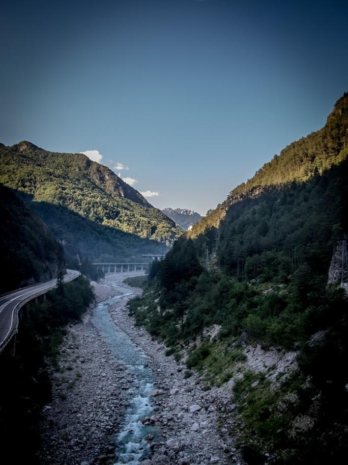 Il Canal del Ferro a Ponte di Muro